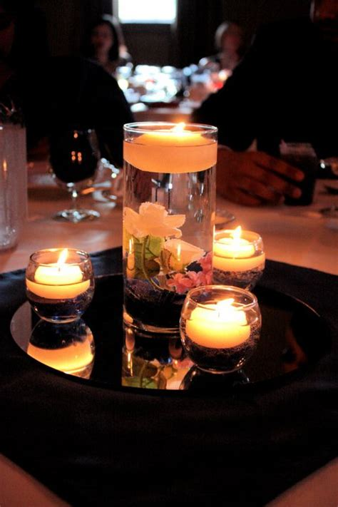 floating candle centerpiece weddingbee photo gallery