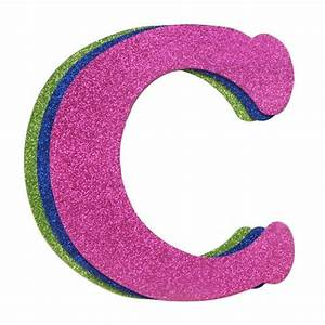 wood letter c set of 3 assorted glitter colors 9quot With glitter letter c