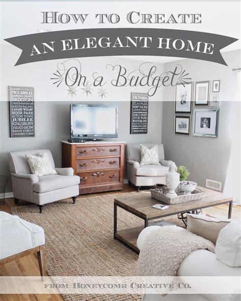white   create  elegant home   budget