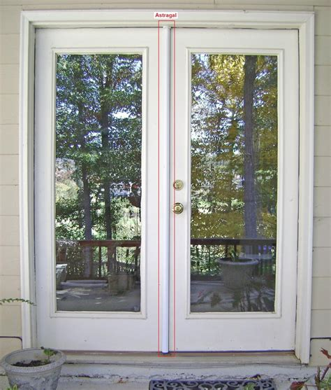 simple french door  panes  smoked