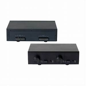 Two 2 Zone Dual Source Speaker Selector With Volume