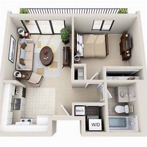 beautiful 3d small house floor plans one bedroom on budget With small apartment floor plans 3d