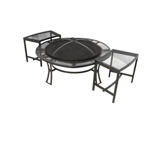 steel mesh patio set cobraco 3 steel mesh pit and conversation