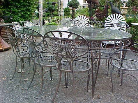 salterini wrought iron quot riviera quot patio set large