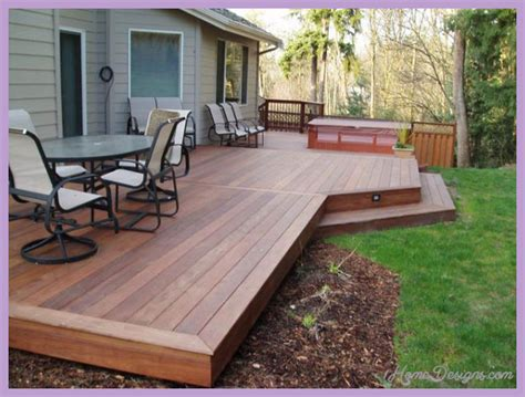 outdoor deck designs small yard homedesignscom