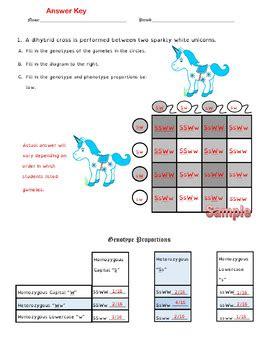 Dihybrid Crosses (f1 Dihybrid Cross Worksheet) By Cynthia Dickerson