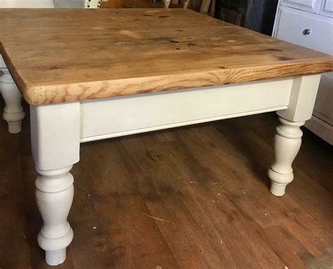 Farmhouse tables might be a huge investment, literally and physically, which means you're going to want to coffee tables ought to be the exact height as the surrounding seating, with 18 inches being a superb the legs are merely massive and retail for approximately 50 a leg for those legs shown. Solid pine rustic farmhouse coffee table upcycled   in Culverhouse Cross, Cardiff   Gumtree