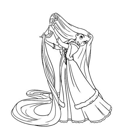Kleurplaat Rapunzol by Rapunzel Tangled Kleurplaten Kleurplatenpagina Nl