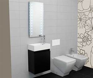 Möbel Gäste Wc : g ste wc waschbecken mit unterschrank und spiegel led ~ Michelbontemps.com Haus und Dekorationen