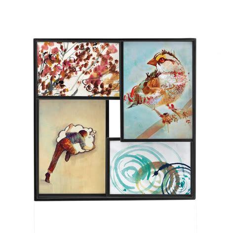 desk multi photo frames umbra multi matrix desk mounted photo frame available from