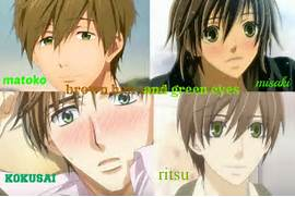 Anime Guys with  brown hair and green eyes by karenwhitescorpio on      Anime Boys With White Hair And Green Eyes