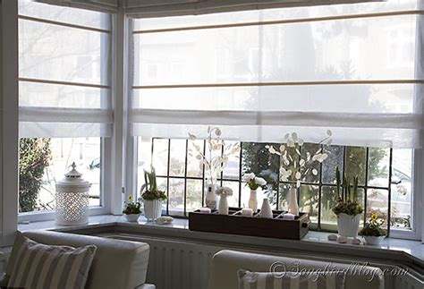 decorating on a window sill