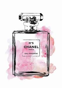 Chanel poster, 24x36 Coco Chanel No5 Illustration