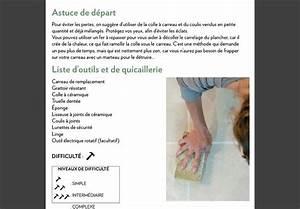 Changer Un Carreau De Carrelage : comment changer un carreau de c ramique bris la presse ~ Nature-et-papiers.com Idées de Décoration