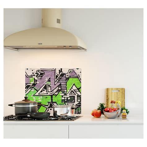 credence cuisine fantaisie crédence graffiti verre et alu credence cuisine