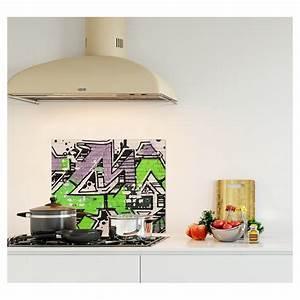 Crédence De Cuisine Originale : cr dence street graffiti verre et alu credence cuisine ~ Premium-room.com Idées de Décoration