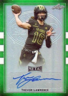 leaf metal  army  american football checklist
