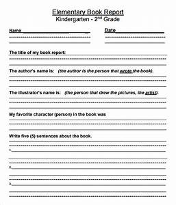 10 book report templates free samples examples With book report template for 2nd grade