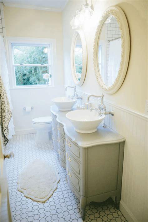 flooring used on hgtv fixer fixer upper farmhouse style bathrooms fixer upper hgtv and vanity sink