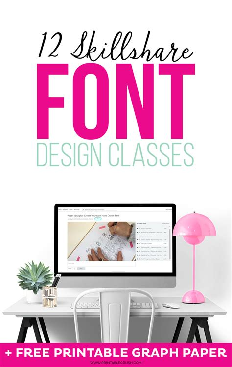 12 skillshare font design classes printable crush