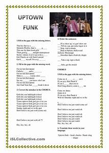 Song Worksheet: Uptown Funk by Bruno Mars