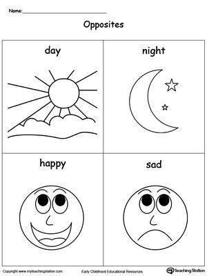 opposites activities for preschoolers opposites flashcards day happy sad 845