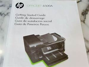 Owners Manual Hp Officejet 6500a Getting Started Guide All