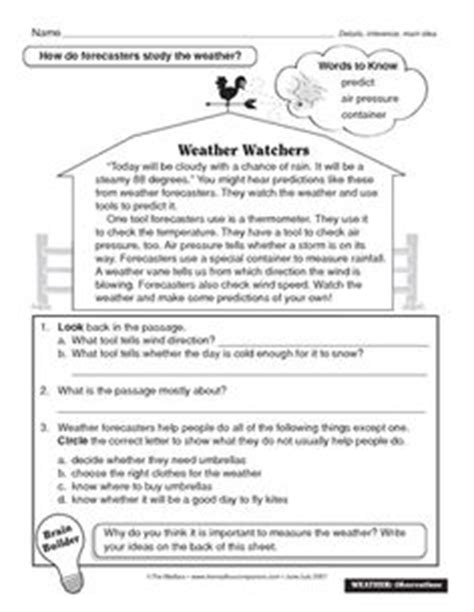 weather instruments worksheet 4th grade science