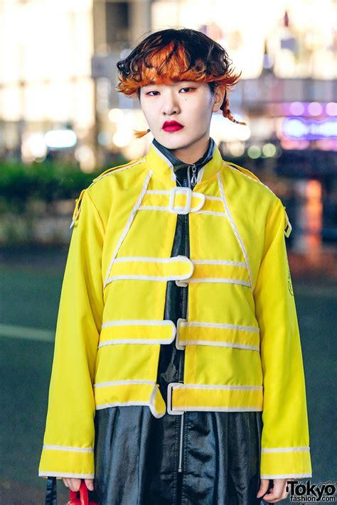 harajuku streetwear style  focus shimokitazawa jacket pinnap nike dr martens