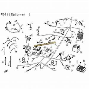 F15-1 - Parts Of The Electrical System To Cfmoto Zforce 800 Cf800-2 - Recambios Goes