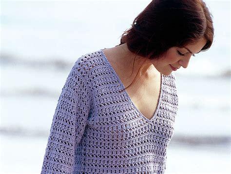 vorlagen damen geh 228 kelter damen pullover mit v ausschnitt kostenlose h 228 kelanleitung