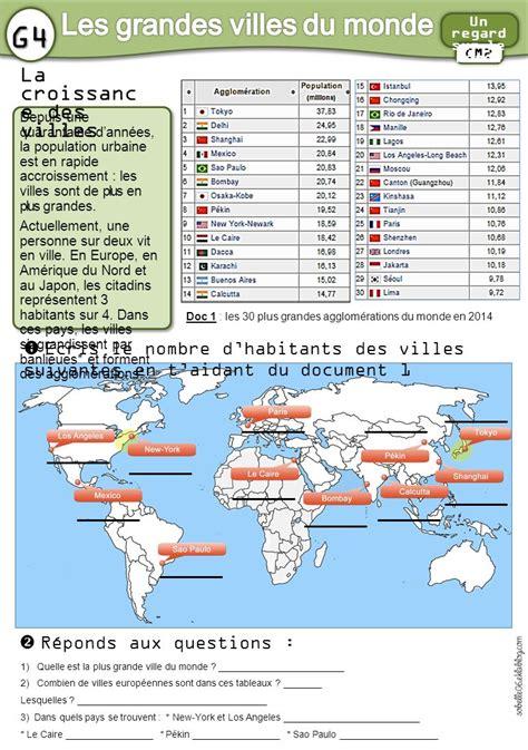 Carte Des Grandes Villes Du Monde by Les Grandes Villes Du Monde Ppt T 233 L 233 Charger