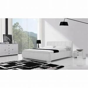 Lit En Cuir : lit en cuir pas cher maison design ~ Teatrodelosmanantiales.com Idées de Décoration