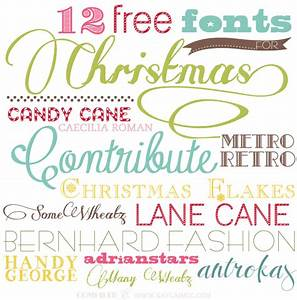 100 Best Holiday Free Fonts   Moritz Fine Blog Designs