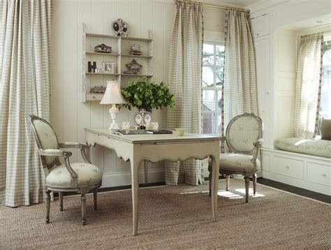French Country Home Office Shabbychic Style With Seagrass