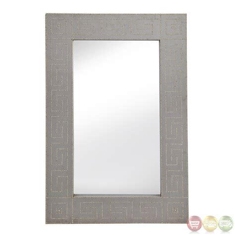 floor mirror leaner winton linen nailhead leaner floor mirror m3611ec