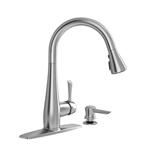 standard kitchen sink faucets standard olvera stainless steel one handle pull