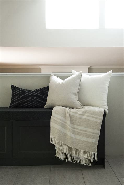 budget storage banquette bench diy room  tuesday blog