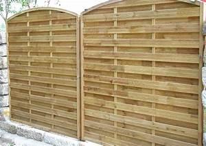 Gartenzaun Sichtschutz Holz : sichtschutz holz lamellenzaun mit bogen ~ Markanthonyermac.com Haus und Dekorationen