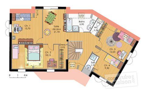 plan maison plain pied 3 chambre maison contemporaine 9 dé du plan de maison