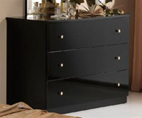 commodes chambres commode 3 tiroirs athena chambre a coucher noir