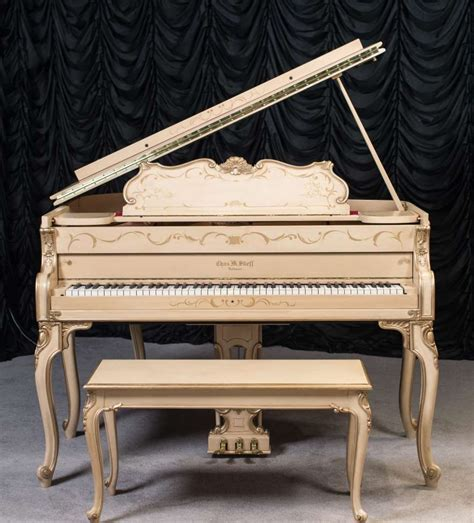 Stieff Country French Style Louis Xv Baby Grand Piano