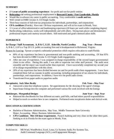 accountant resume templates