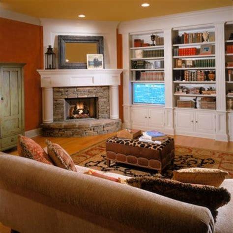fireplace corner  bookshelves hearths  heart