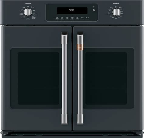 ctsfpmd cafe   french door single wall oven matte black