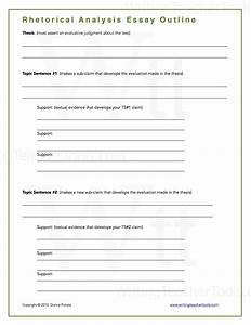 Rhetorical analysis essay writing teacher tools for Rhetorical analysis outline template