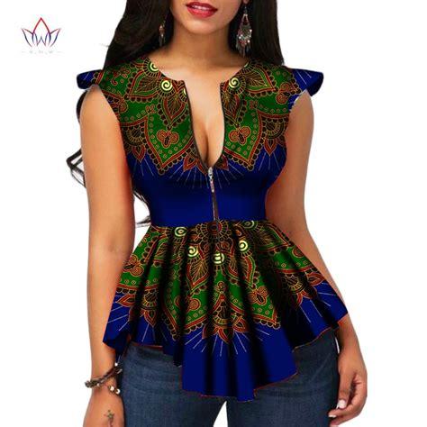 2018 Brw Africa Style Women Modern Fashions Womens Tops