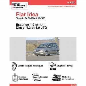 Revue Technique Fiat Idea Essence Et Diesel  Rta