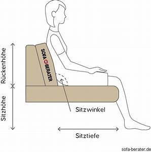 Richtig Sitzen Sofa : die optimale sitztiefe und sitzh he bei einem sofa ~ Orissabook.com Haus und Dekorationen