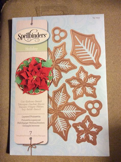 spellbinders layered poinsettia  images card